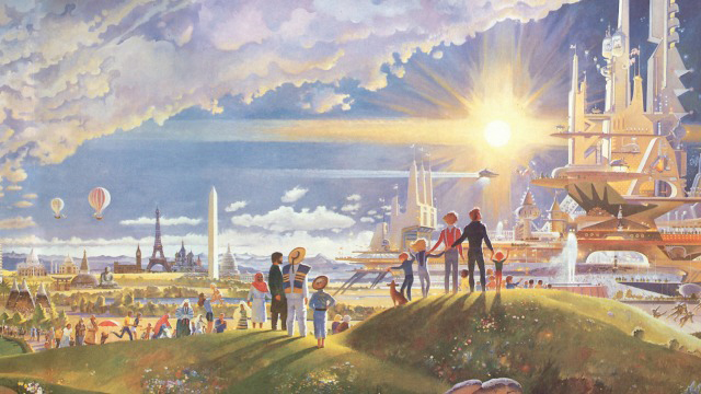 A version of Utopia from Robert McCall's 1983 Mural, The Prologue and the Promise