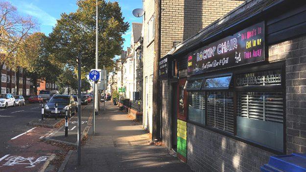 Rockin' Chair exterior, Neville Street