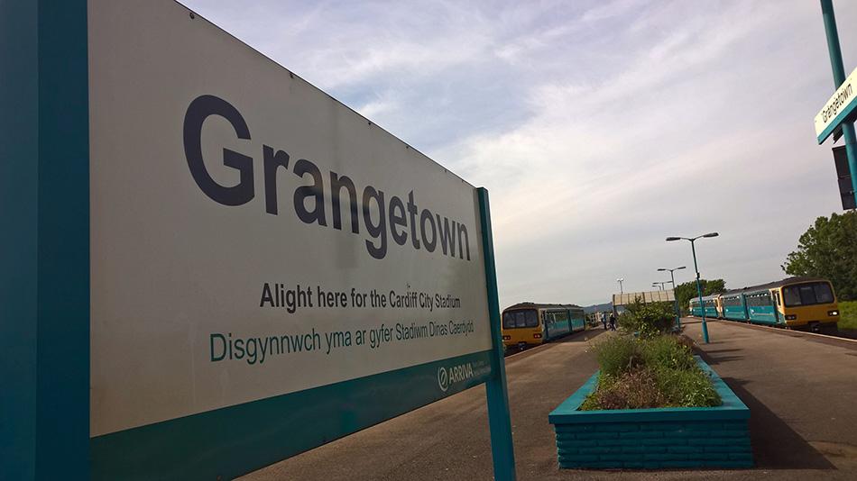 Grangetown Railway Station sign