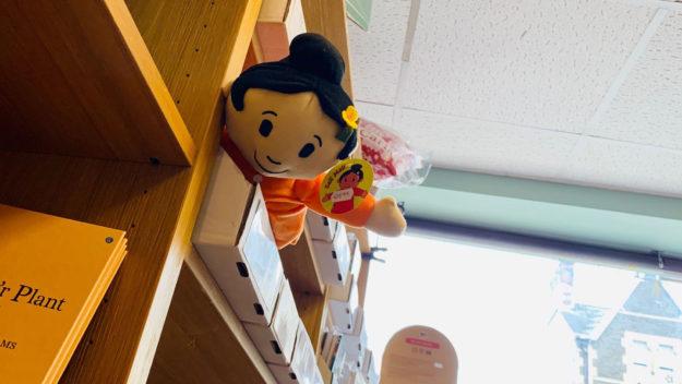 doll on the shelves