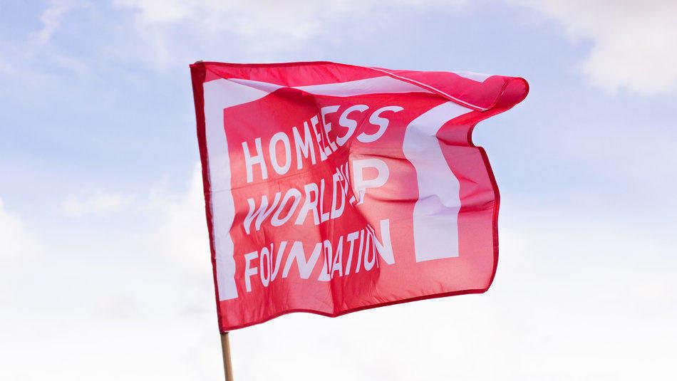 Homeless World Cup flag
