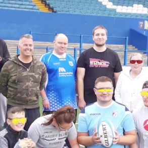 Visually impaired rugby team