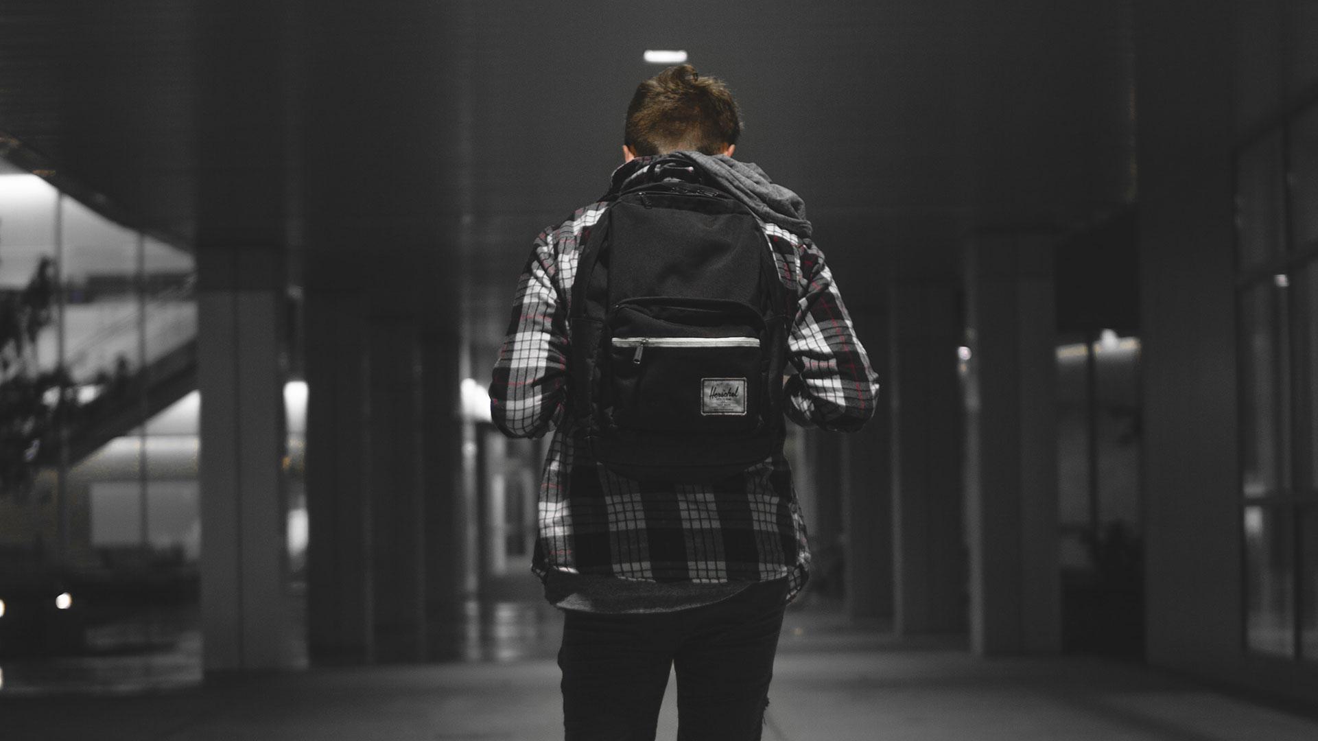 Lonely schoolboy