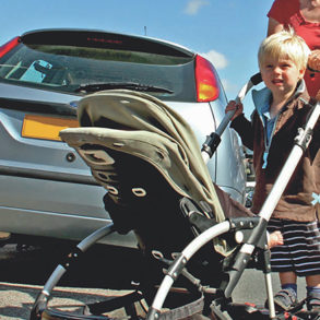 Boy pissed off by pavement parking