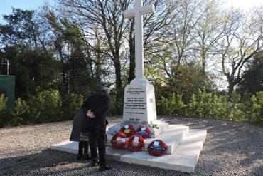 Poppies laid on Lisvane War Memorial