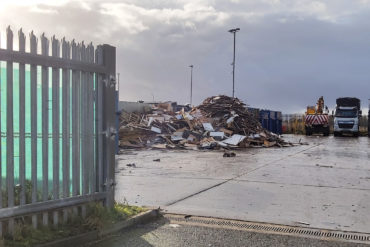 The existing Recycling Facility at Atlantic Trading Estate, Barry