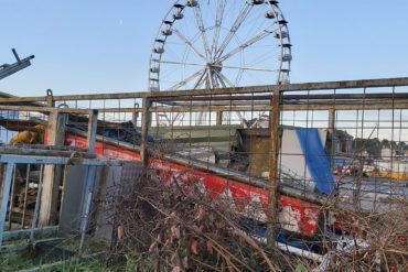 Demolition begins on two structures at Barry Island Pleasure Park.