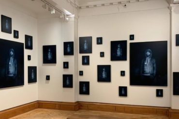 Carrie Mae Weems, Repeating the Obvious, 2019. 39 digital archival prints of various sizes. Courtesy the artist, Jack Shainman Gallery, New York and Galerie Barbara Thumm, Berlin. Installation view: Artes Mundi 9. Photography: Stuart Whipps