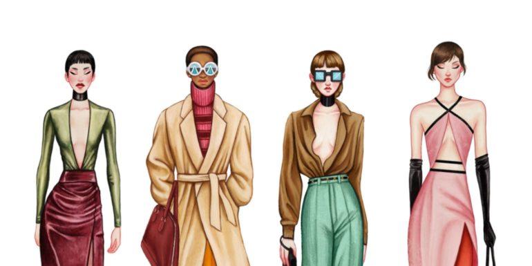 Illustration by Ashton Hinton, Gucci Spring_Summer 2020